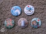 I Love Fantasy Creatures Pinback Buttons by Nightlyre