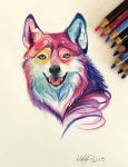 176- Colorful Wolf by Lucky978