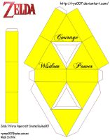 Triforce Papercraft Plain 2 by ryo007