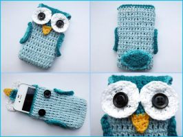 Owl cell phone case II by argentinian-queen