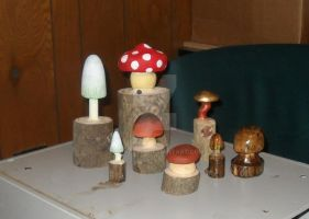 Carved Mushrooms by Rachet777