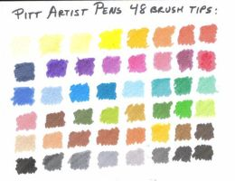 48 Pitt Artist Pens Colors by robertsloan2