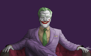 Joker Relaxing by MangleDangle