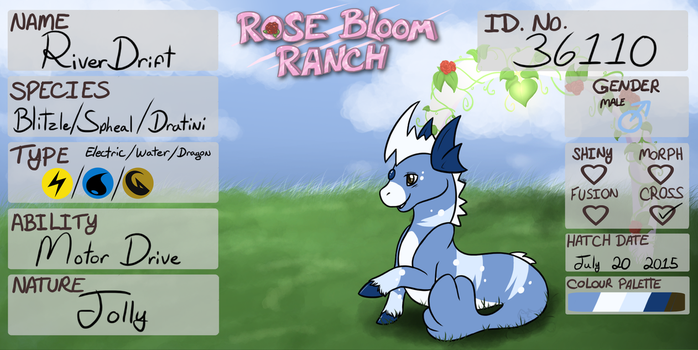 PKMNation ref sheet: RiverDrift [Lv.12] by WhiteTigerGinger