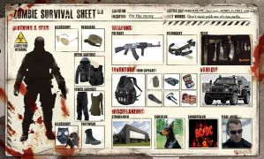 My Survival Sheet by reddog909fallout