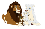 Lion Family by KitlynSolstice