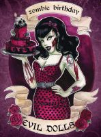 zombie birthday!!!! by koffinkandy