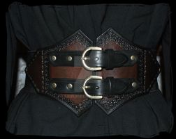 leather belt elastic by Lagueuse