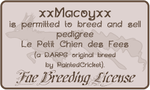 Fae Breeding License: xxMacoyxx by FRivArt