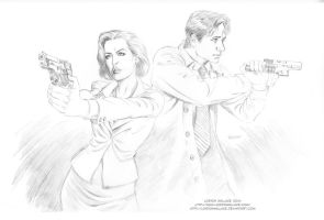 X-FILES: AGENT SCULLY and AGENT MULDER by LostonWallace