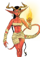 Succubus Colored by MoonlightHawk