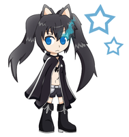 black rock shooter chibi by byronhedgehog