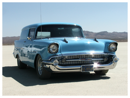 Blue 57 Chevy at El Mirage by tezzan
