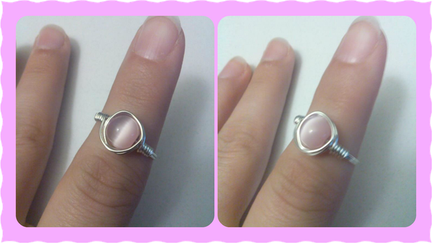 Pink Catseye Ring by iamdemic
