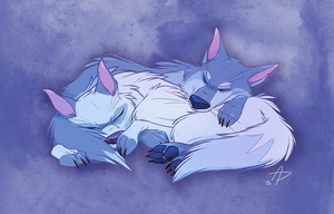 Wolfy Snuggles by fnook