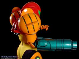 Metroid: Samus side view by Yukilefay