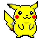 Pixelated Pikachu by DEATHJRisunloveable