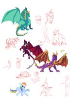 Sketch Dump_Cartooning by Tsitra360