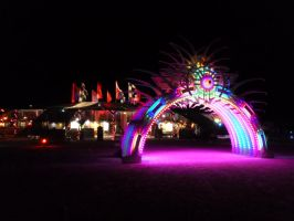 Burning Man 2012 - Center Camp Archway by Starjuice