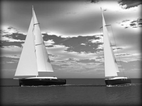 Yacht race by davidfly