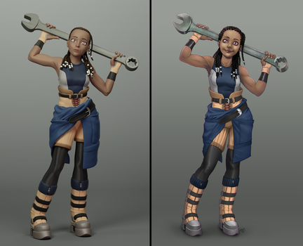 Onix 3D/2D comparison by TheRogueSPiDER
