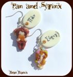 Pan and Syrinx Earrings by Bojo-Bijoux