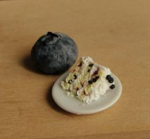 1:12 Scale Blueberry Lemon Cake by fairchildart