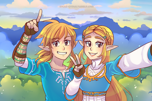 Link and Zelda by SOLAR-CiTRUS