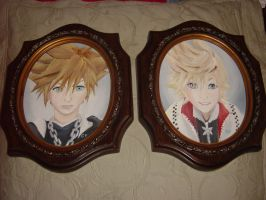 Sora and Roxas in Acrylic by DNLINK