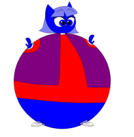 TP - Robyn Starling as a inflated blueberry by pinkiepielover63