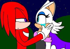 look me in the eyes - knuxouge by alonegothictomboy