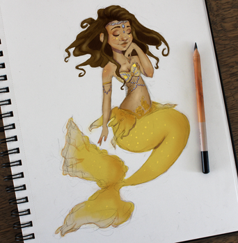 Little Yellow Fish by Linsketches
