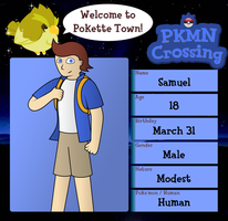 PKMN Crossing - Samuel by Heartchuu