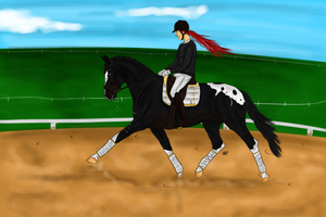 Dressage competition Freestyle Academy. by Minthiy
