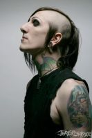 Chris motionless without
