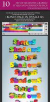Set of Unique Vector Shadows Graphic Styles. by Love-Kay