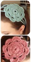 Flower Headbands by zetallis