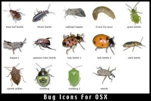 OSX Bug Icons by rerighthand
