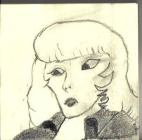 Daphne in Graphite on Post-It by DeeAyAich