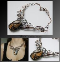 Shay- wire wrapped copper necklace by mea00
