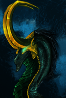Marvel Dragons #1: Loki(SPEEDPAINT) by Dark-Spine-Dragon