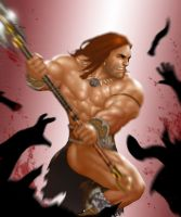 Barbarian Dude in action again by ArtbroSean