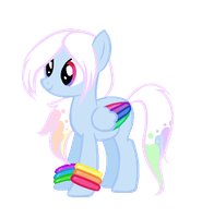 Pastel Rainbow Pony AUCTION by iVui
