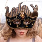 Black and Gold Stripped Mask 2 by CostumeSalon