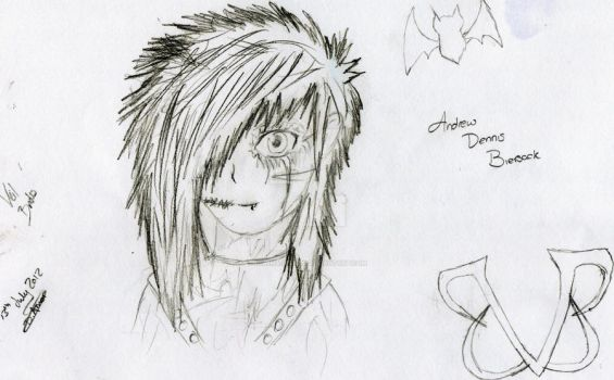 Andy Biersack - Uncoloured by DemiMajestics