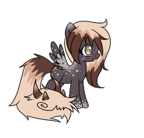 :Tailmouth Pony Adopt:ChocolateandCreampuff Closed by AzrealRou