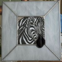 Stained Glass Zebra by lenslady
