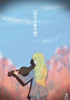 Your lie in April (WARNING!!! LARGE DOCUMENT SIZE) by Turquoise-luck