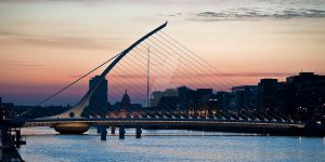 Samuel Beckett Bridge Sunset by Boldorak