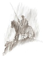 knight in the rain by yacermino